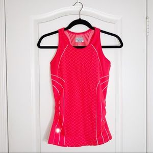 Athleta | Fitted Orange/Red Athletic Top